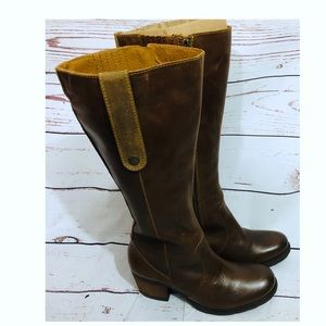 New Born Tan Carney Leather Boots